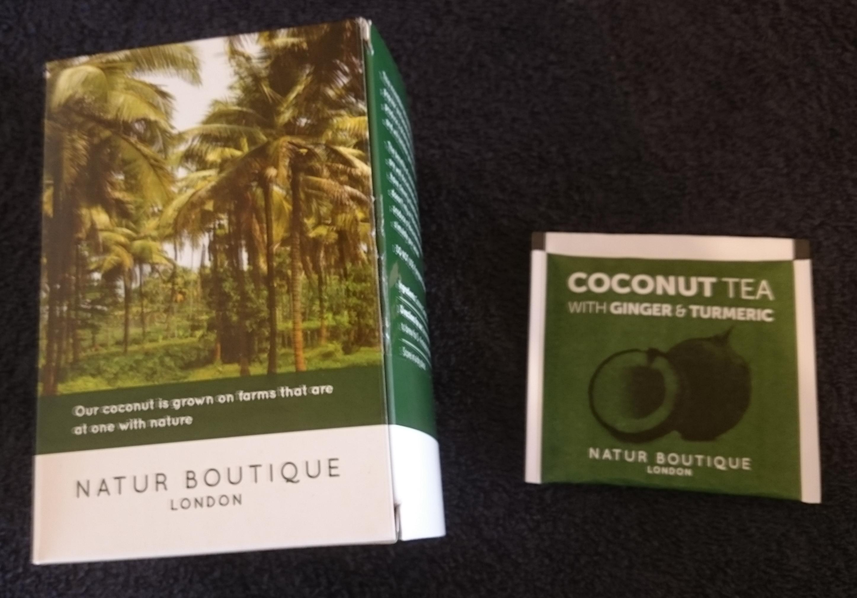 Natur Boutique's Coconut Tea with Ginger and Turmeric box